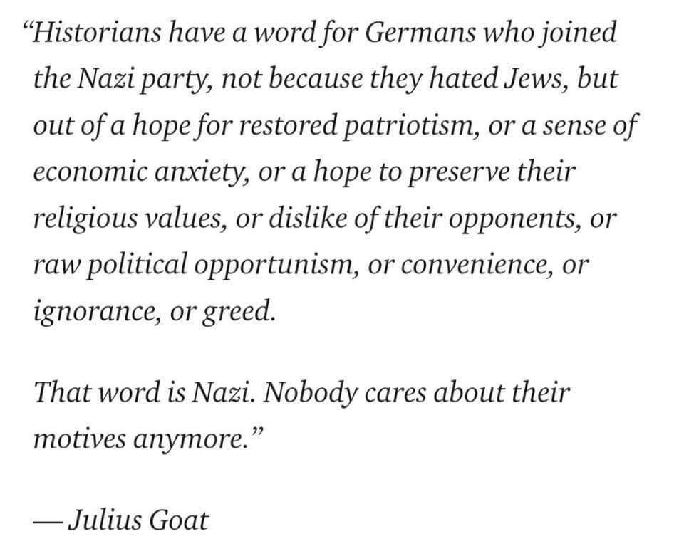 """Historians have a word for Germans who joined the Nazi party…"" -Julius Goat [960 x 774]"