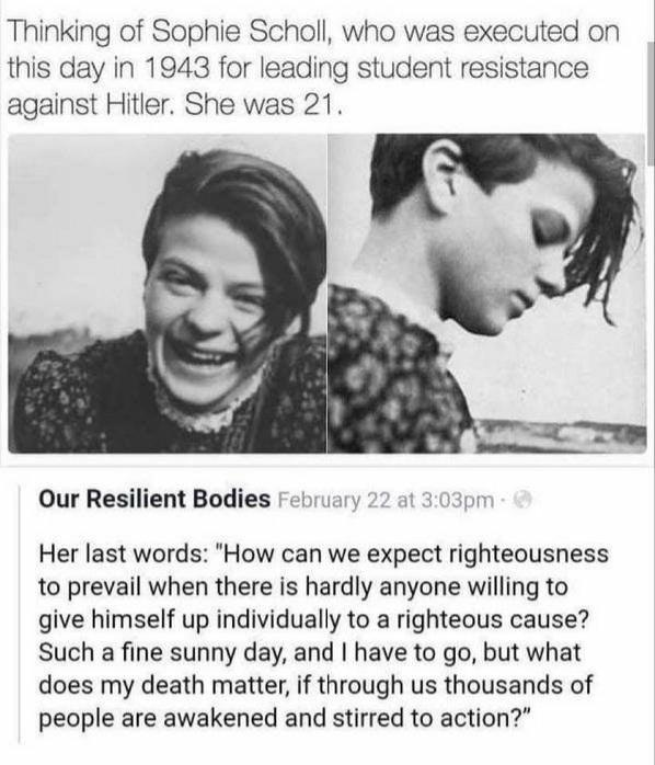 [Image] Sophie Scholls last words