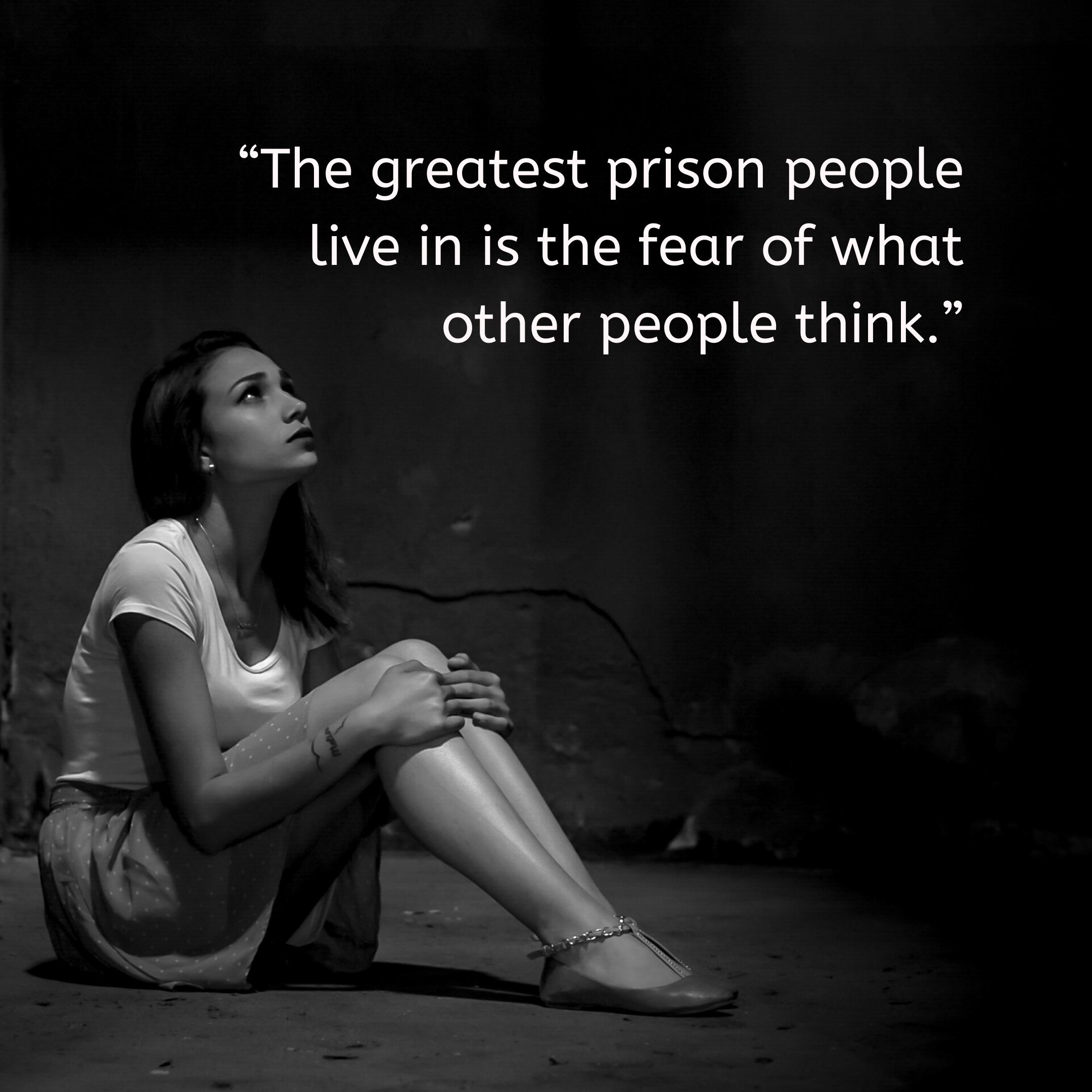 [image] stop caring what people think!