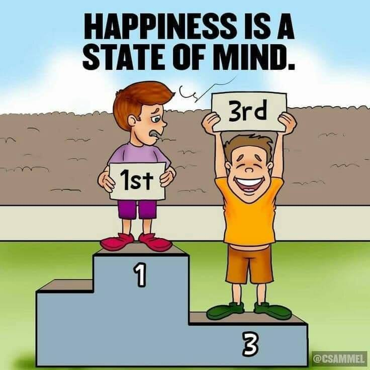 Happiness is inside of you, and you can achieve it anytime you like, no matter the outside circumstances [Image]