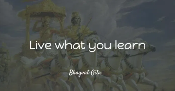 """Live what you learn"" – Shri Krishna [601X314]"