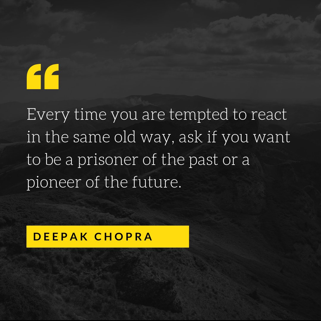 """Every time you are tempted to react the same old way…"" – Deepak Chopra (1080×1080)"