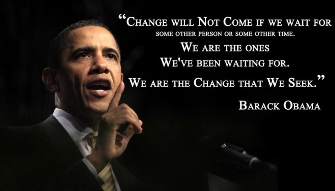 [image] Be Bold, Dream Big and make the change you seek.