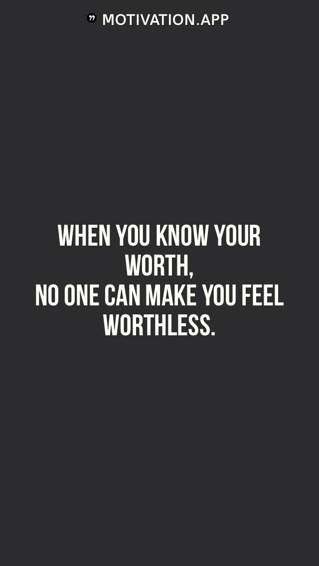[Image] Know your Worth!
