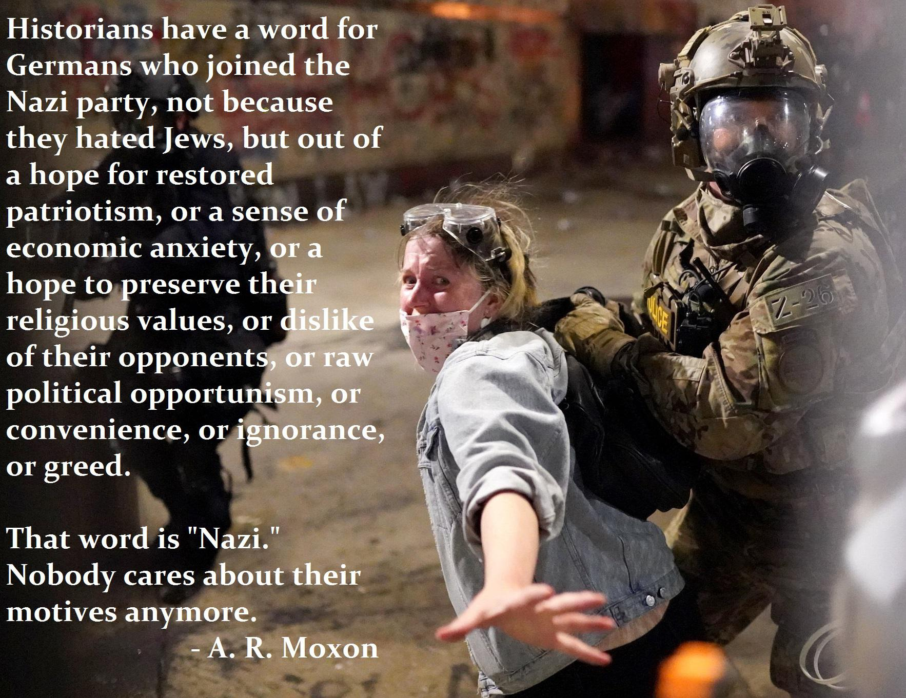 """That word is ""Nazi."" Nobody cares about their motives anymore."" – A. R. Moxon [1766×1361]"