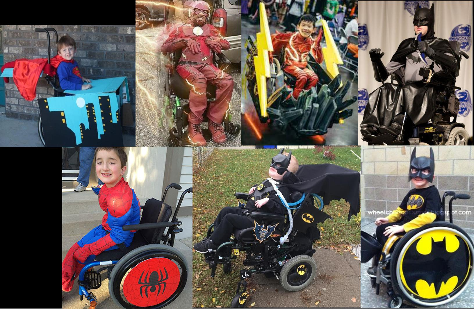 [IMAGE] A wonderful collection of people not letting their wheelchair-bound bodies stopping them from being their favorite superheroes! This just lifts my spirits up and motivates me so much!