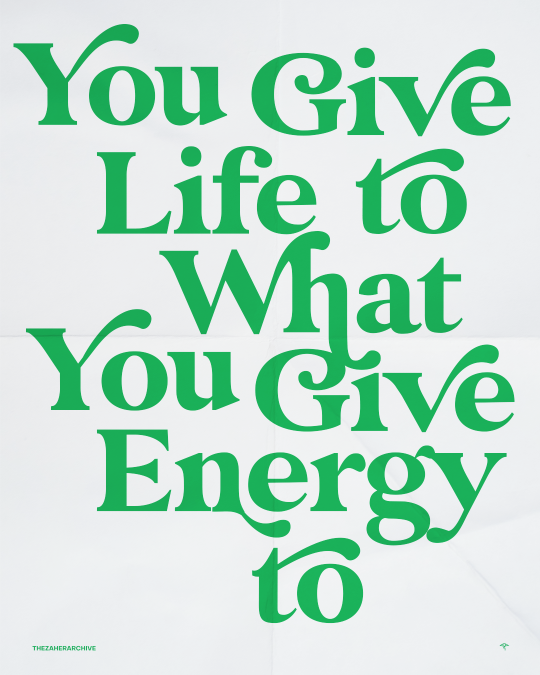 So give out good energy [Image]