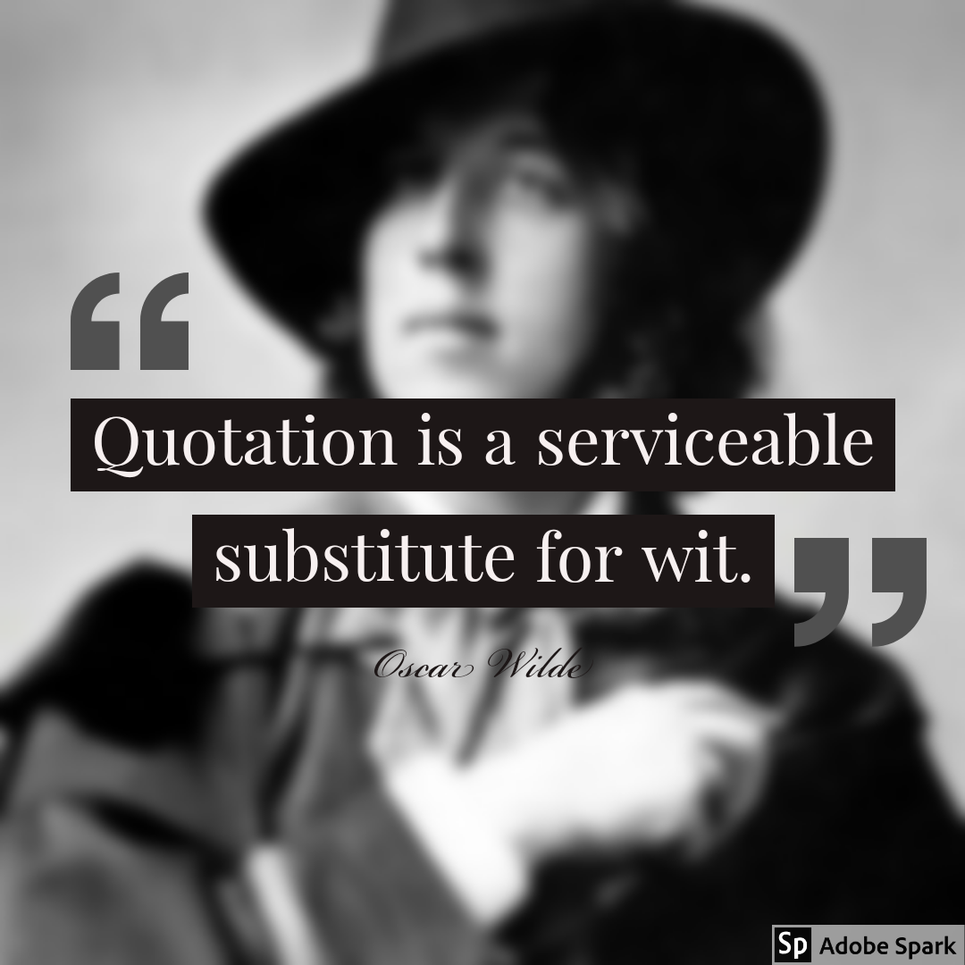 Oscar Wilde – trolling people(me) who quote him from grave [1080 x 1080]