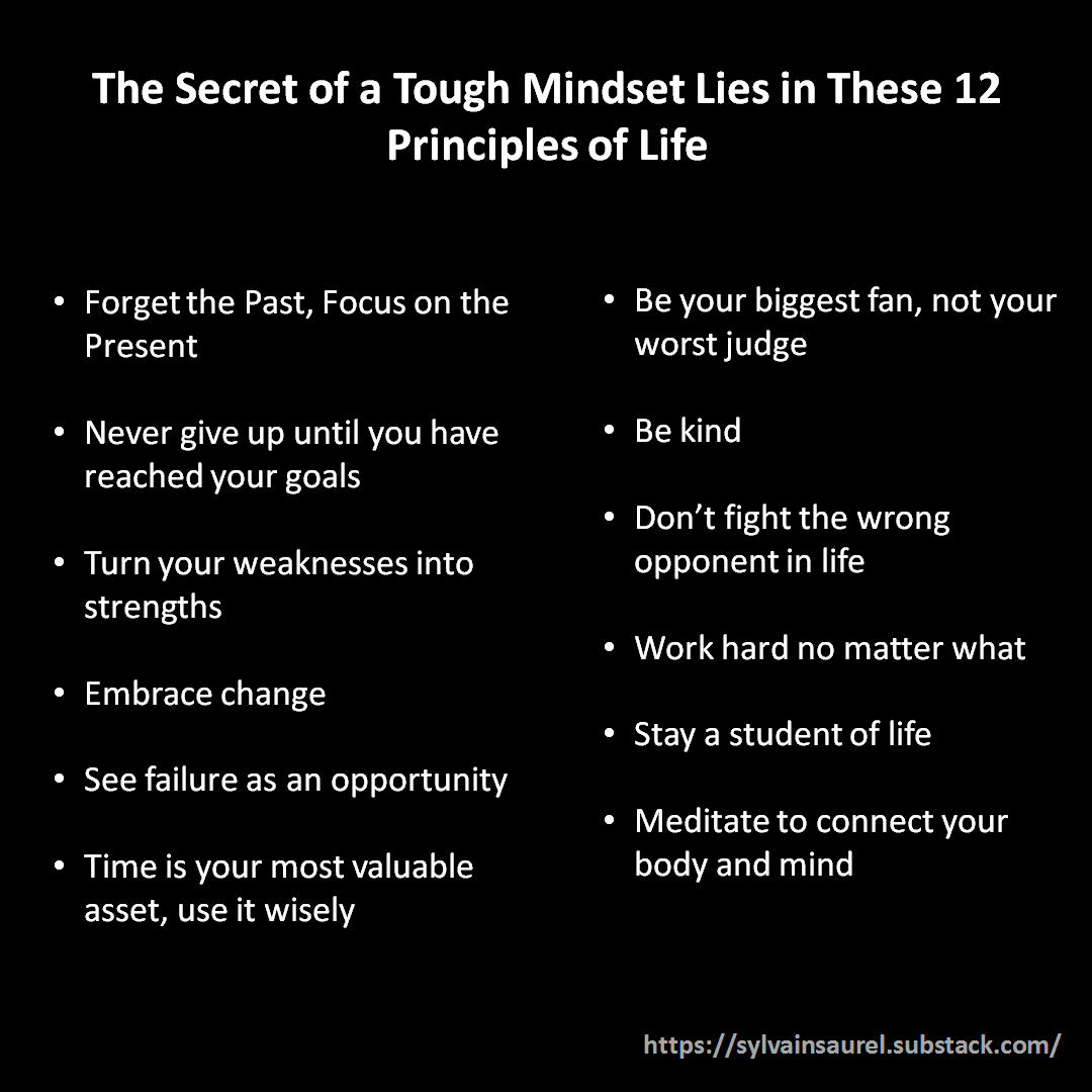 [Image] The Secret of a Tough Mindset Lies in These 12 Principles of Life