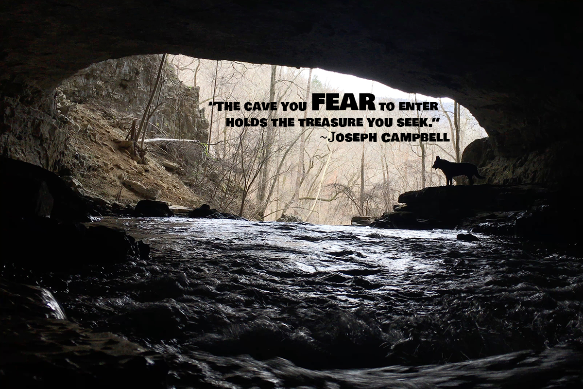 """The cave you fear…"" ~ J. Campbell [1200×800]"