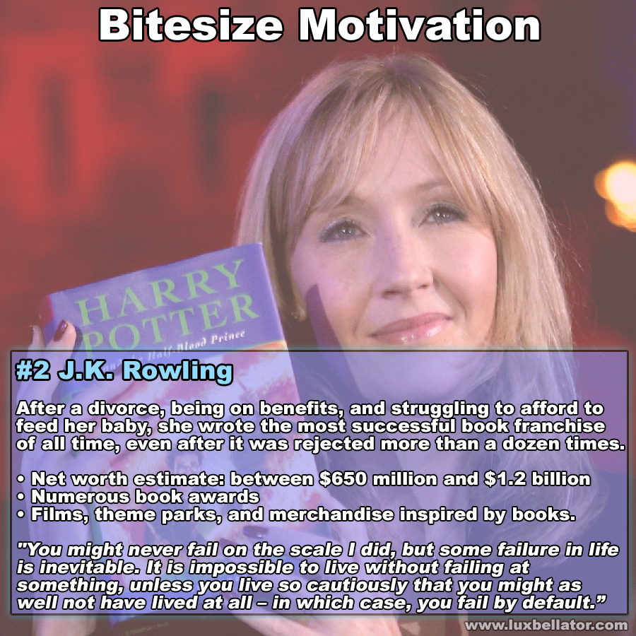 [Image] Bitesize Motivation #2 J.K. Rowling