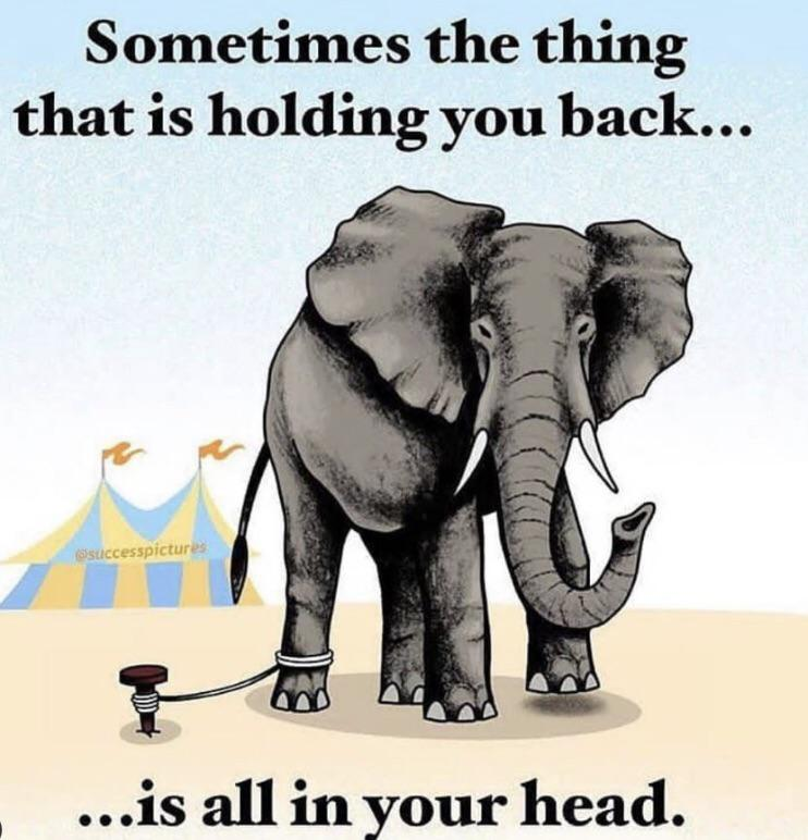[Image] The chains that limit you, you hold in your head inside.