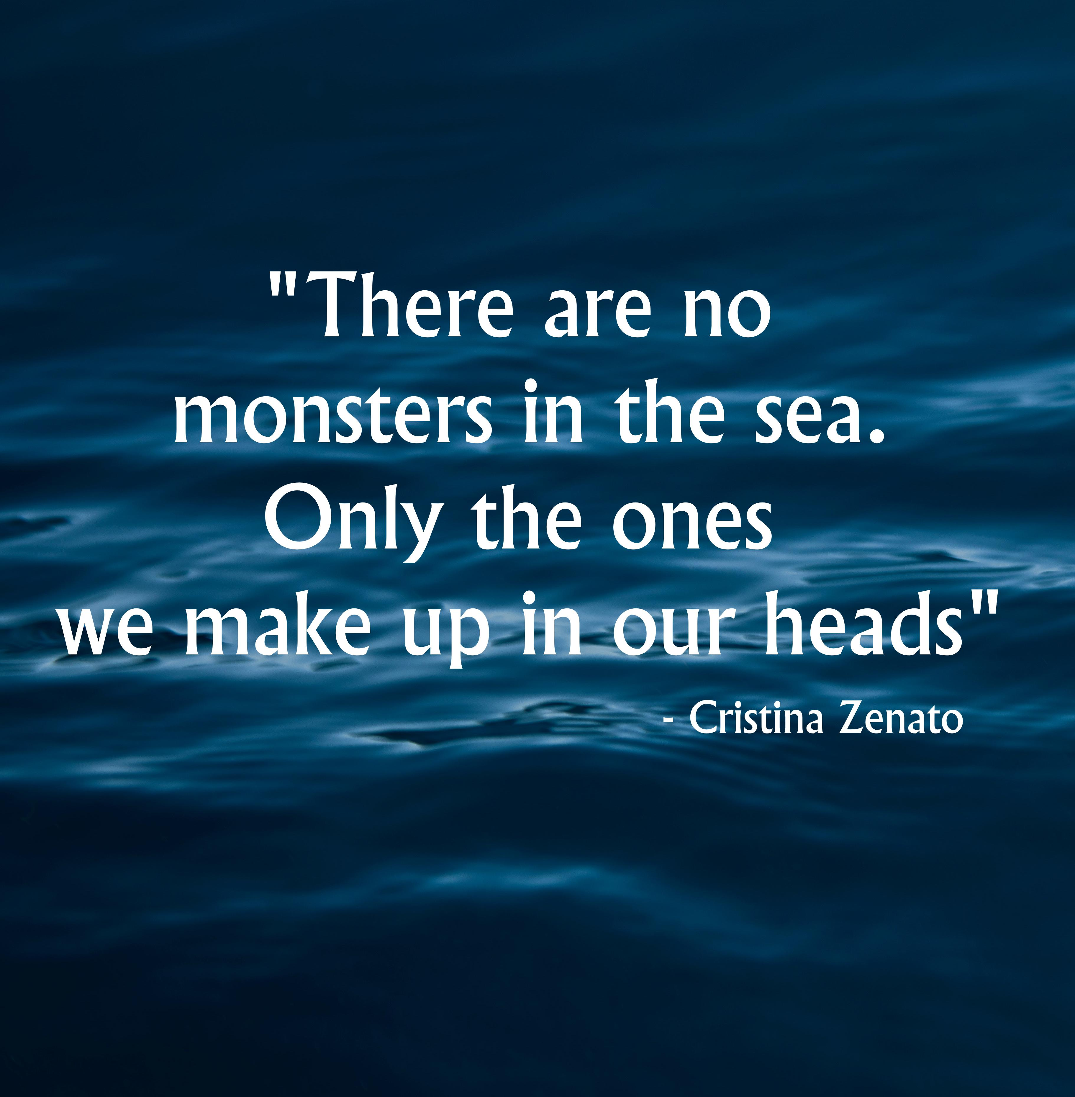"""There are no monsters in the sea. Only the ones we make up in our heads"" – Cristina Zenato [3664×3718]"