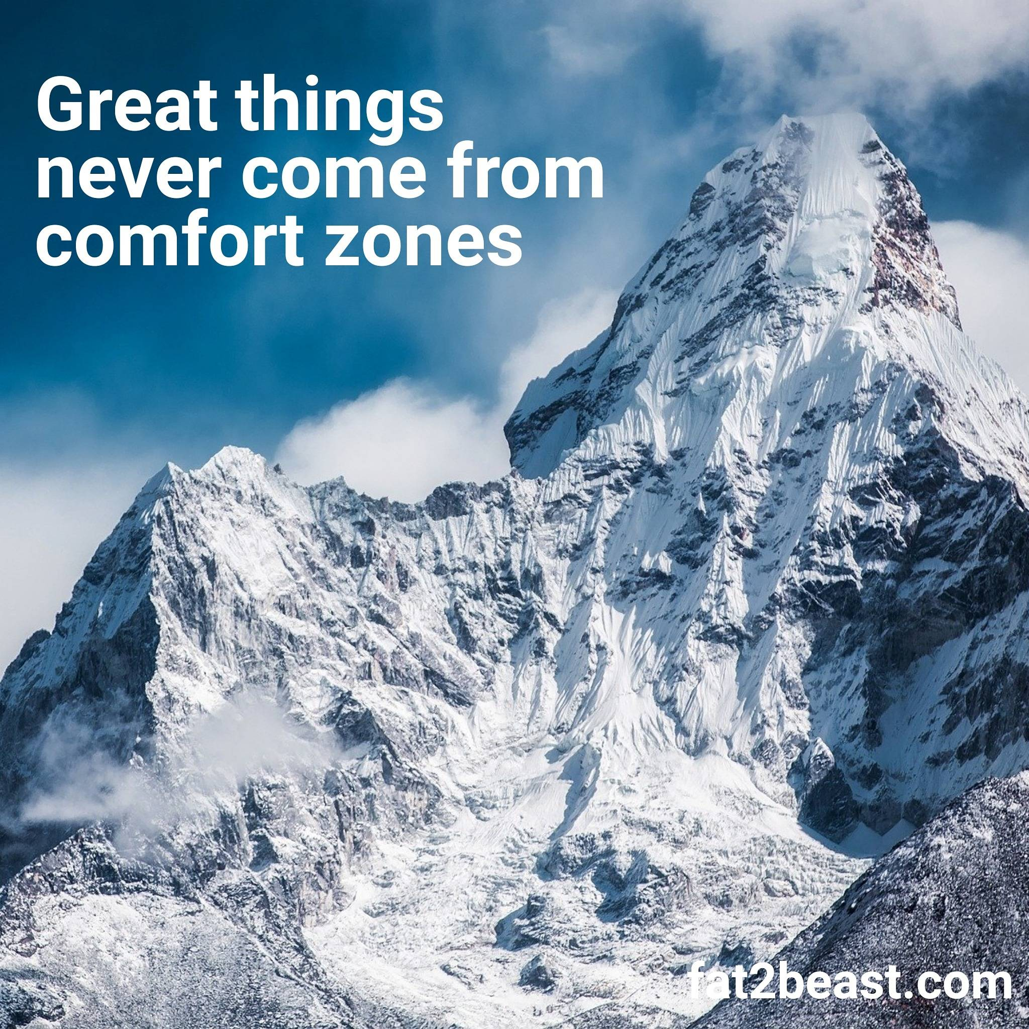 [IMAGE] Great things never come from comfort zones