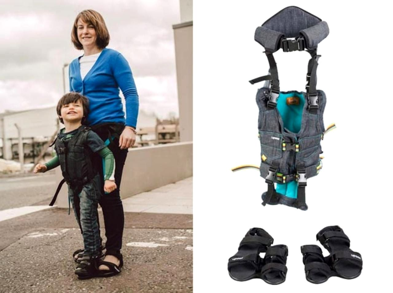 [Image] Debby Elnatan,Mom Of Disabled Son Creates Special Harness That Alows Him And Other Children To Walk For The First Time