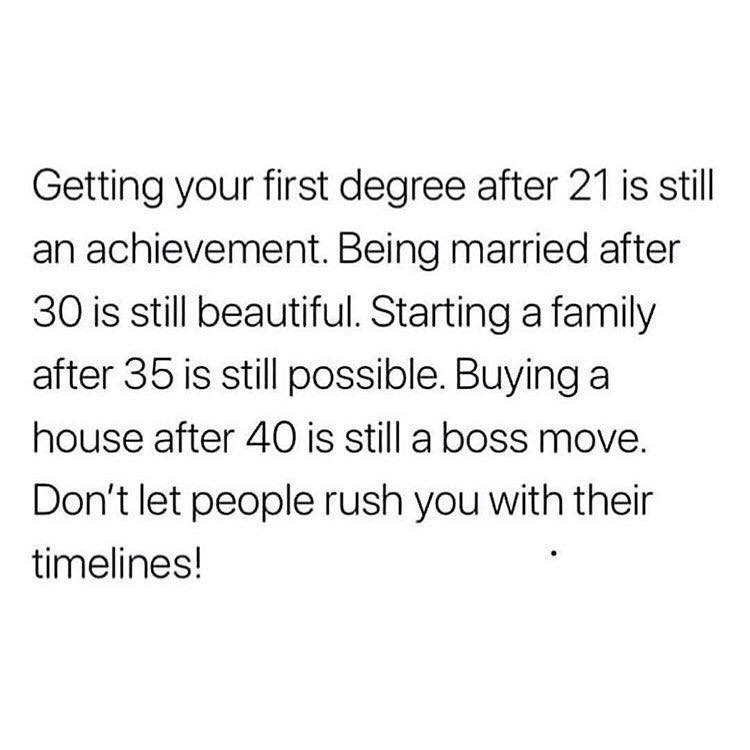 [Image] There's no need to rush!