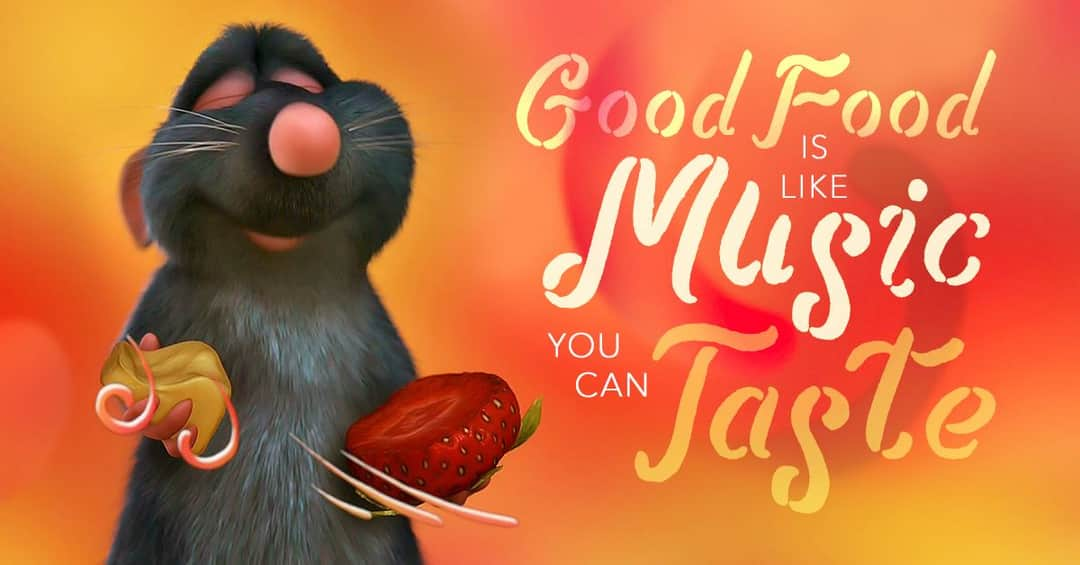 Good food is like music you can taste 🎶 [1080×565]