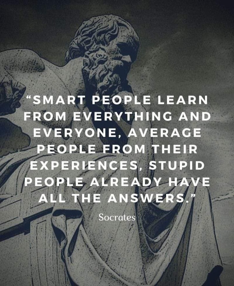 """Smart People Learn From Everything…"" – Socrates [786×960]"