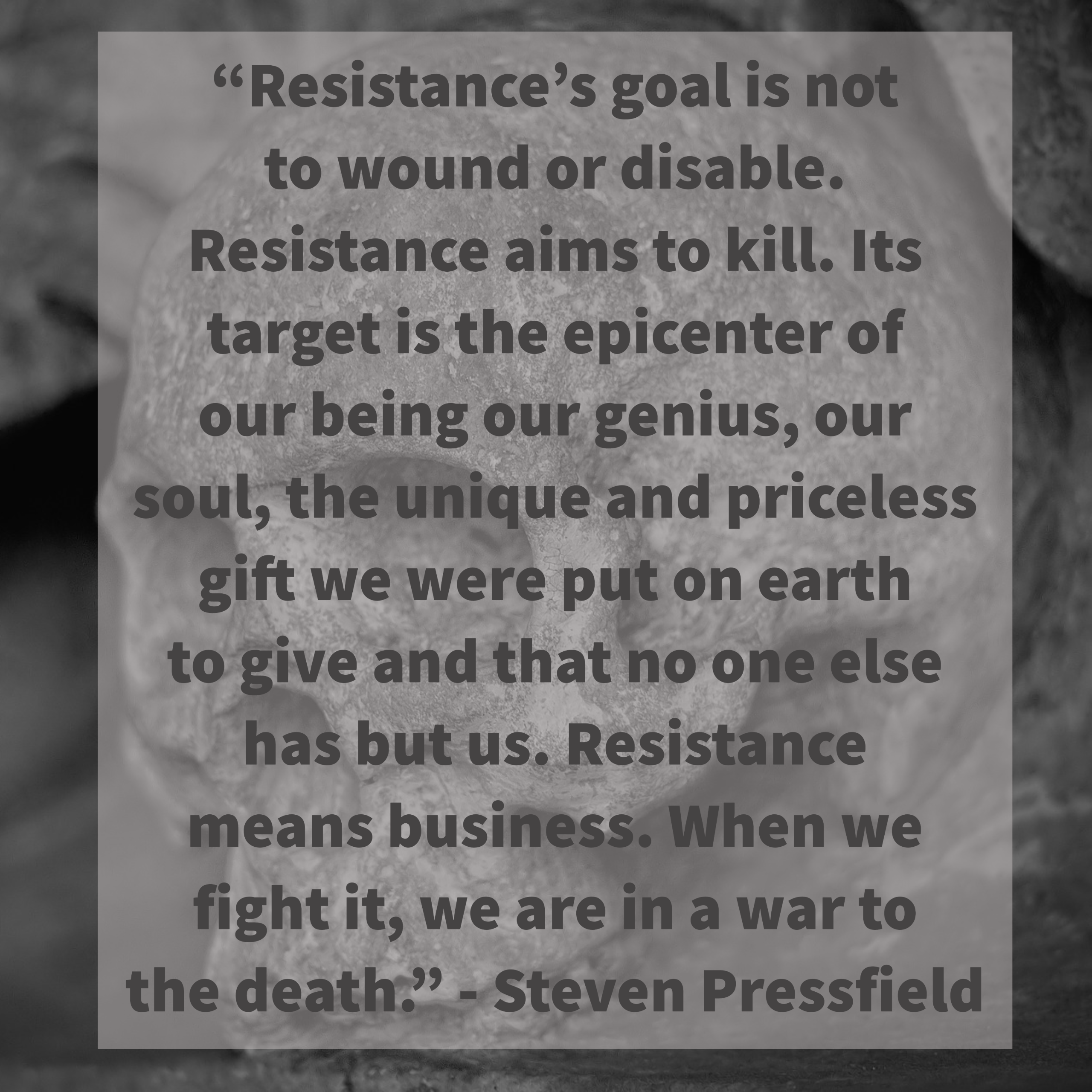[Image] Powerful Perspective on Resistance