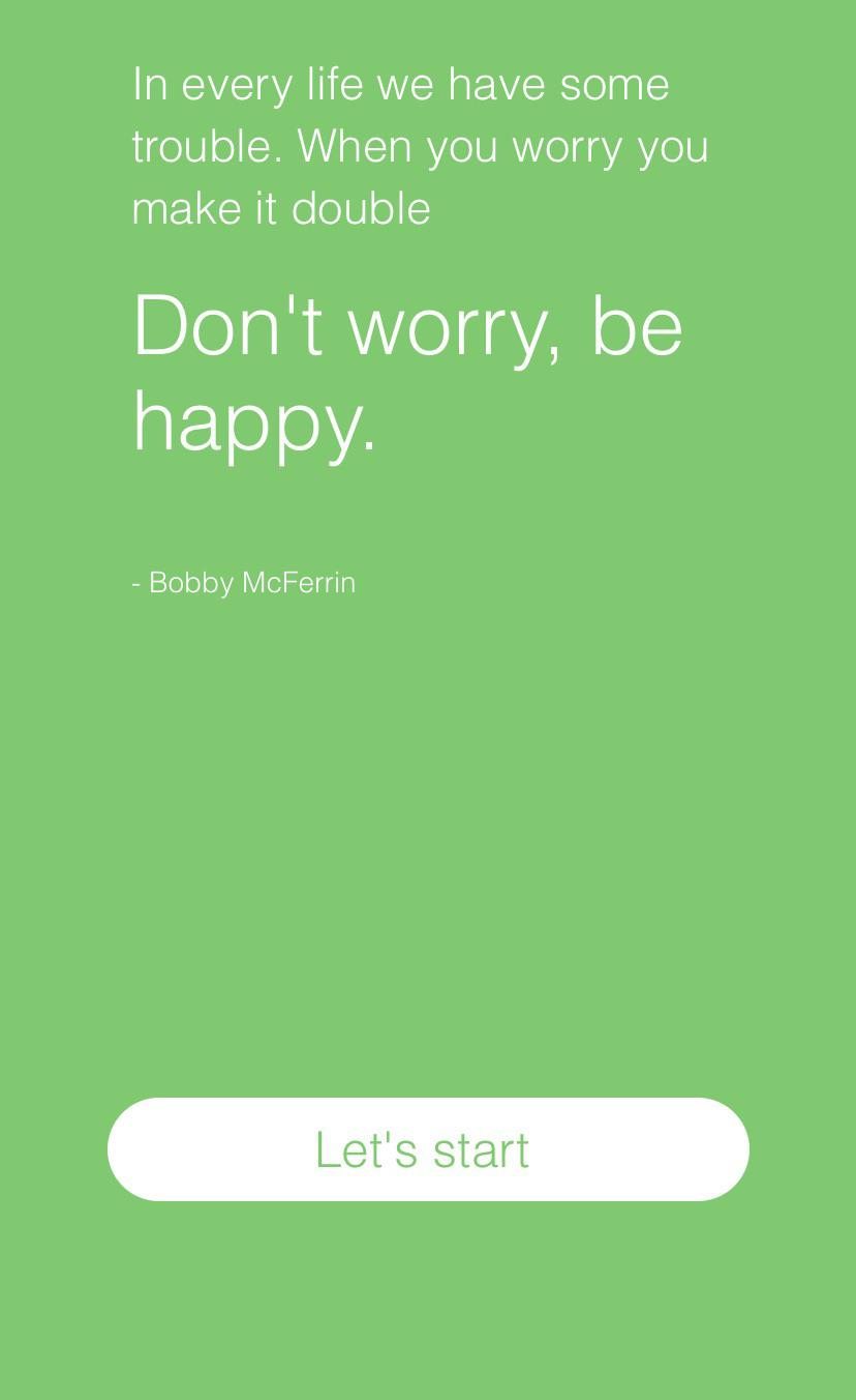 [Image] A pleasant reminder every time before I take the test for depression symptoms