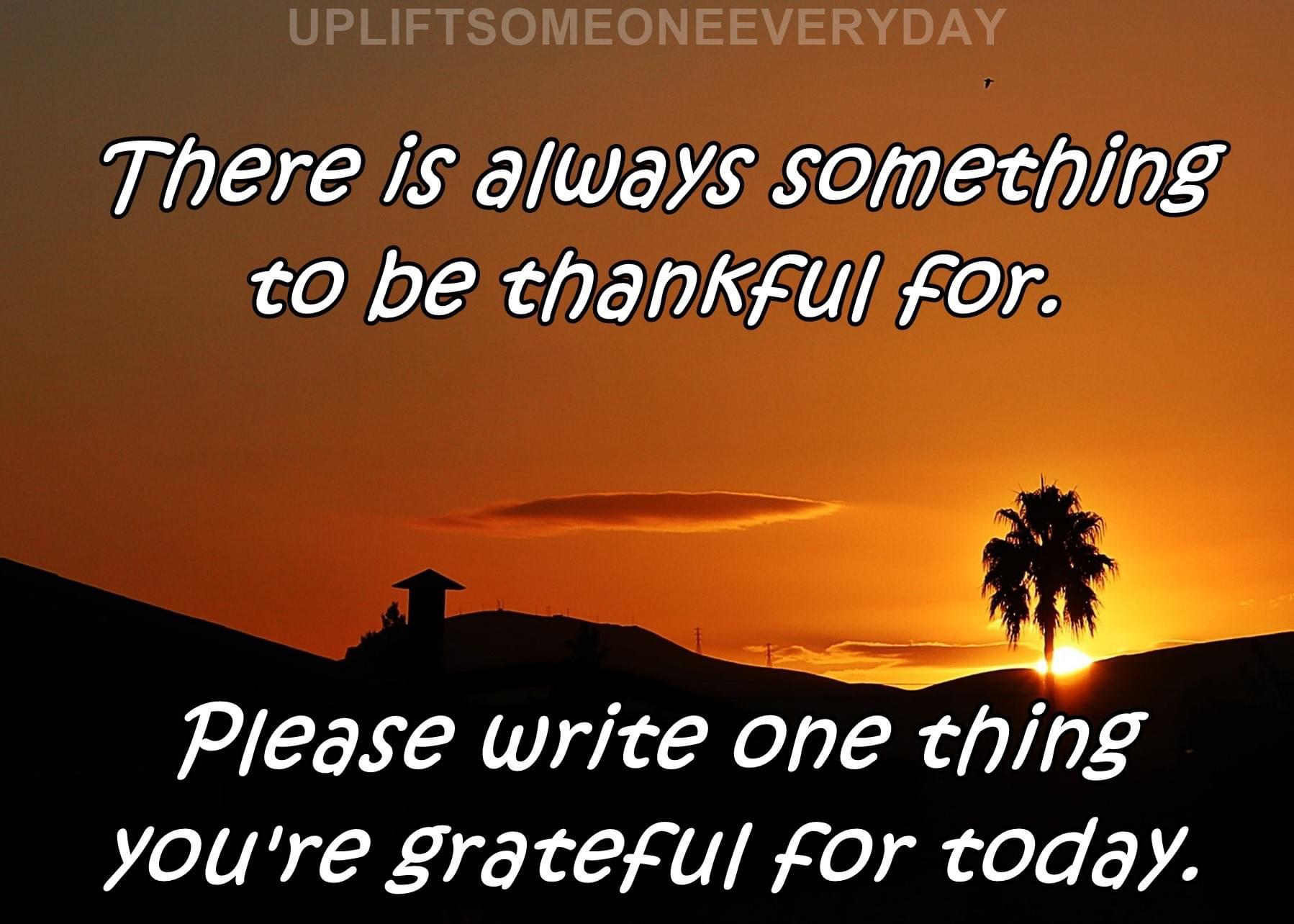 [Image] There is always something to be thankful for…