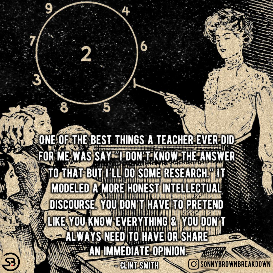 One Of The Best Things A Teacher Ever Did For Me … [Image]
