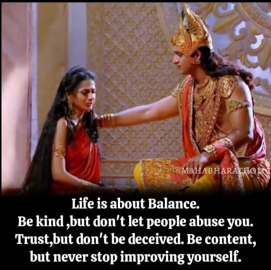[Image] – Life is all about balance.