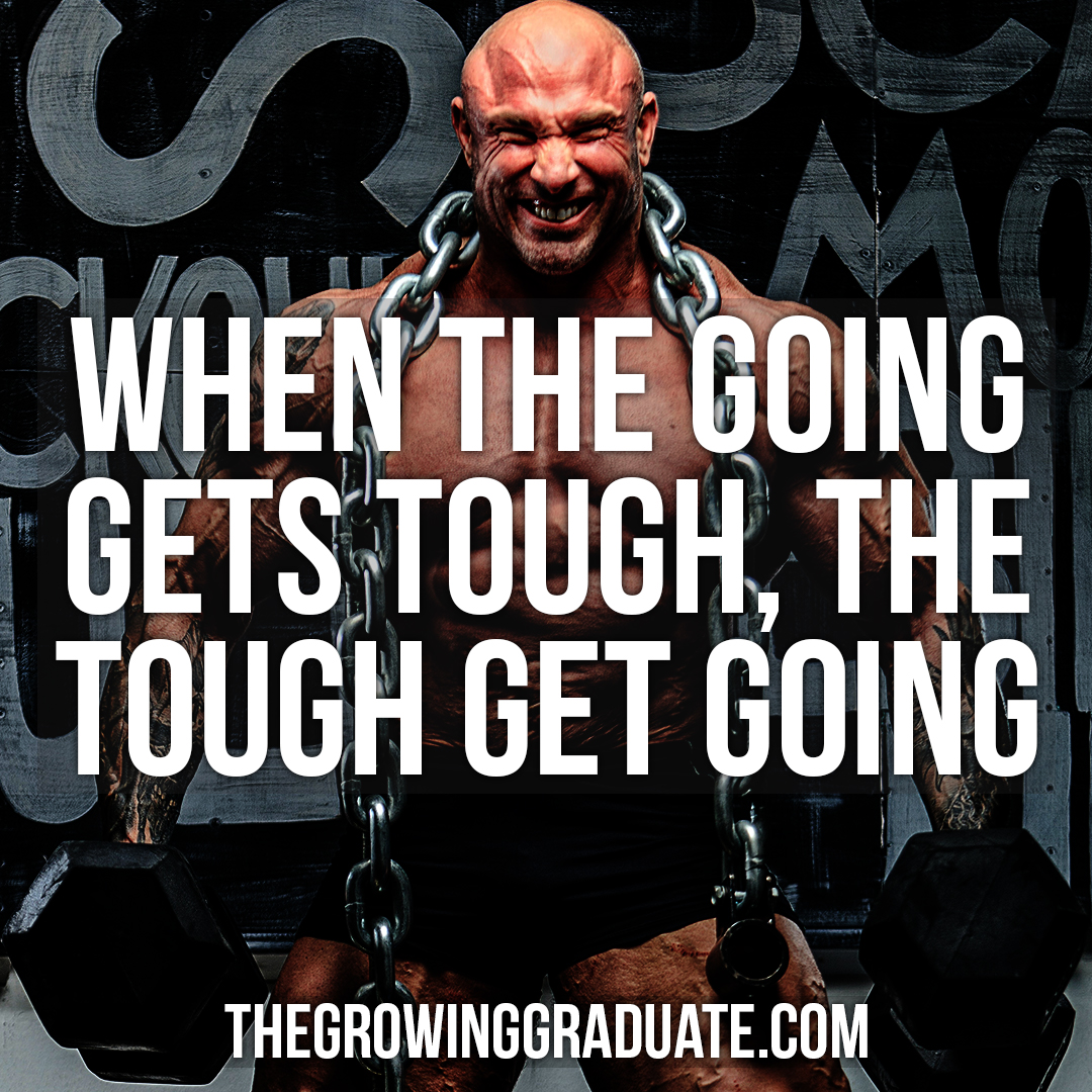 [Image] When the going gets tough, the tough get going