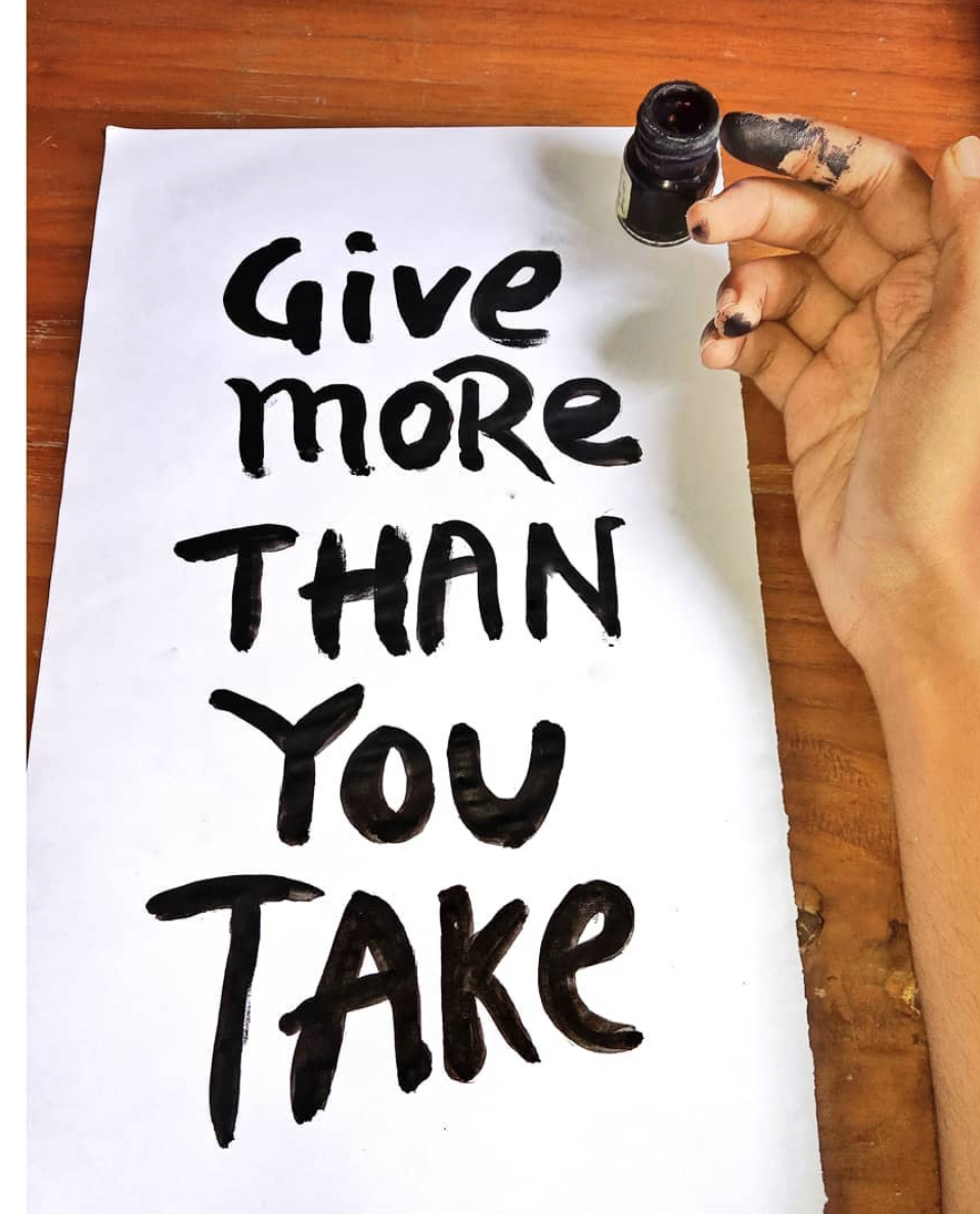 [Image] Being a giver rather than just a taker makes all the difference in life