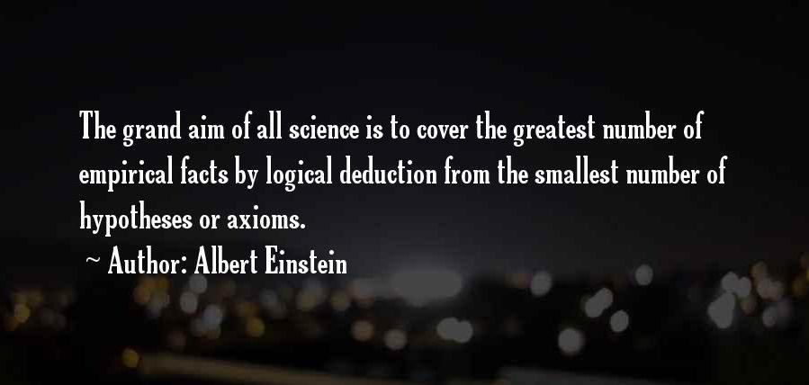The grand aim of science… Albert Einstein [899*428]