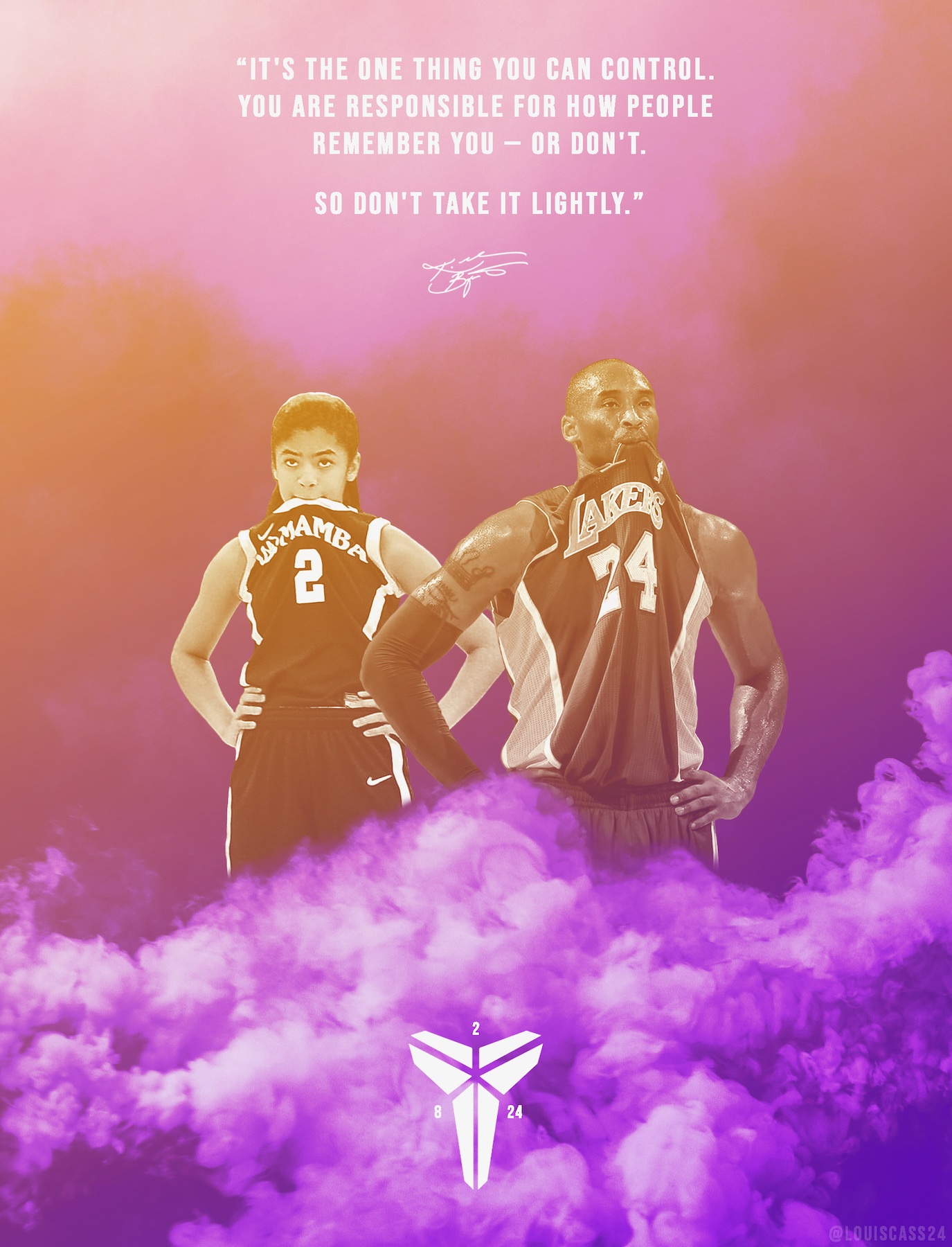 [Image] Made a tribute to the Mambas last night featuring my favorite quote from Kobe
