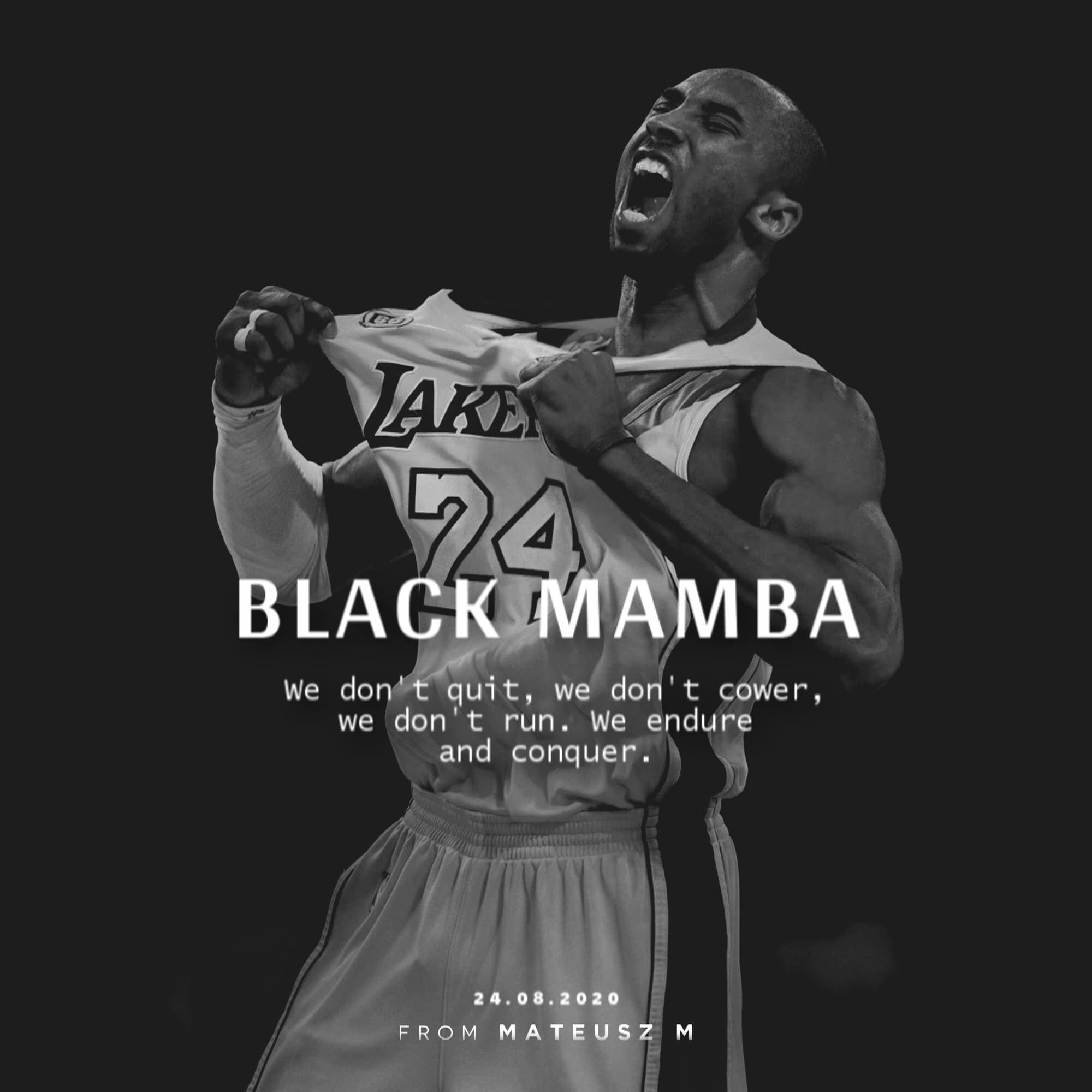 Inspirational words from the late Kobe Bryant [Image]