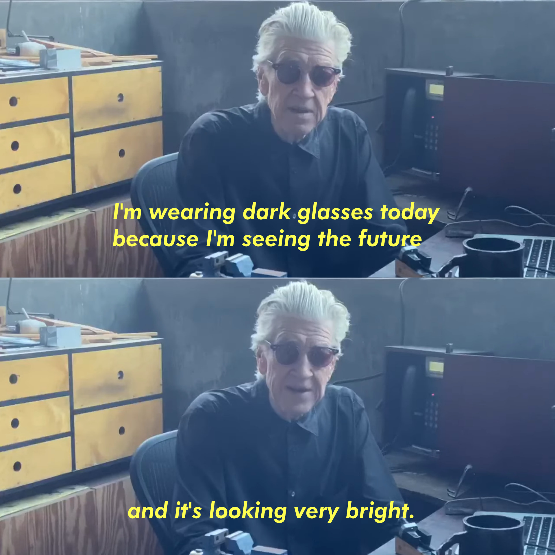 [Image] Dark Glasses to see the future