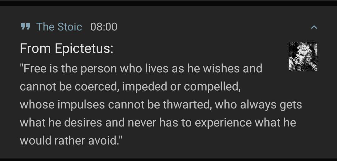 The definition of a free person by Epictetus [1080×518]