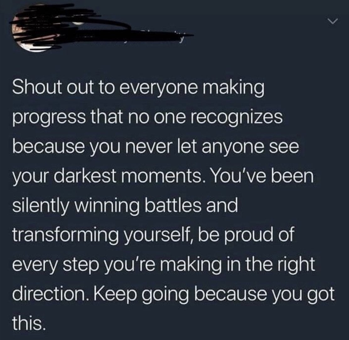 [Image] Never give up, keep moving!