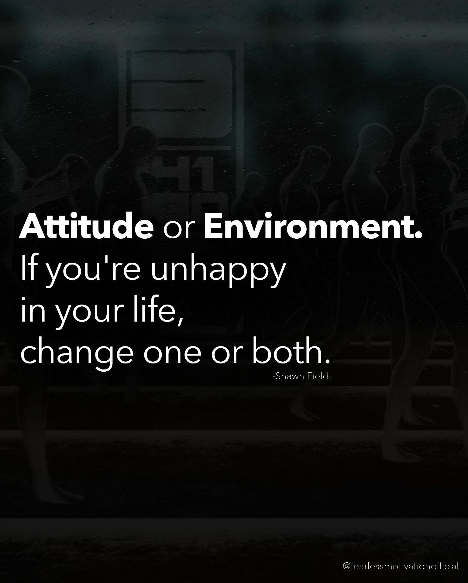[Image] Change is necessary, attitude determines where you at