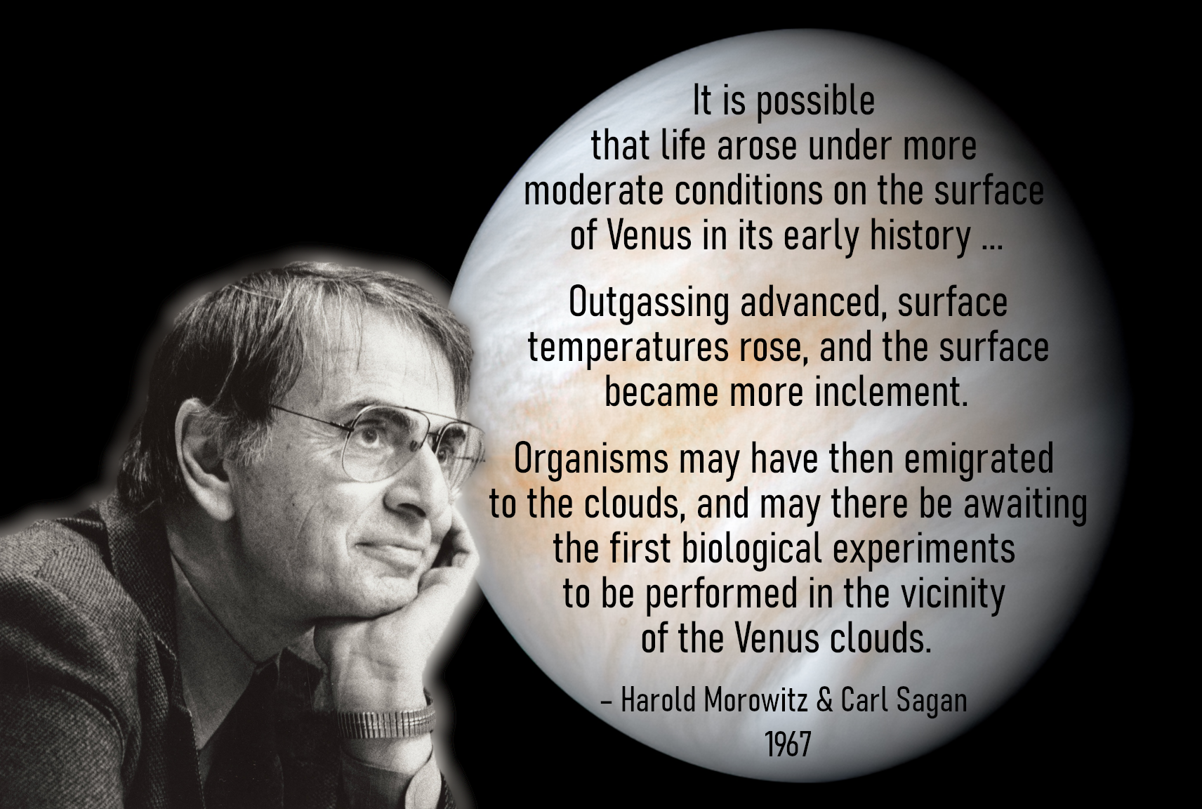 """""""awaiting the first biological experiments to be performed in the vicinity of the Venus clouds"""" – Harold Morowitz & Carl Sagan, 1967. [1712×1152] [OC]"""