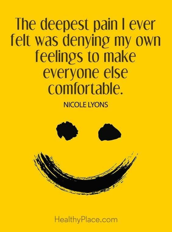 """The deepest pain I ever felt was denying my own feelings to make everyone else comfortable"" -Nicole lyons [564×761]"