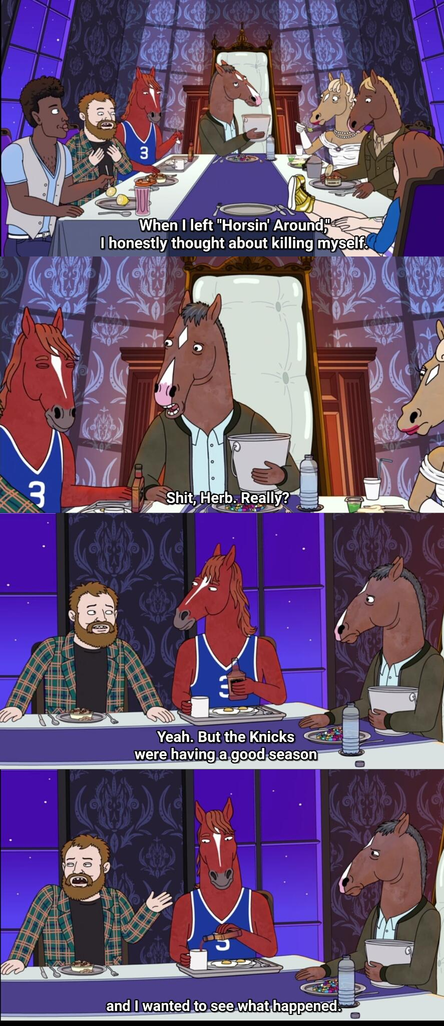 [Image] It's the little things that keep you going (BoJack Horseman 2014-2020)