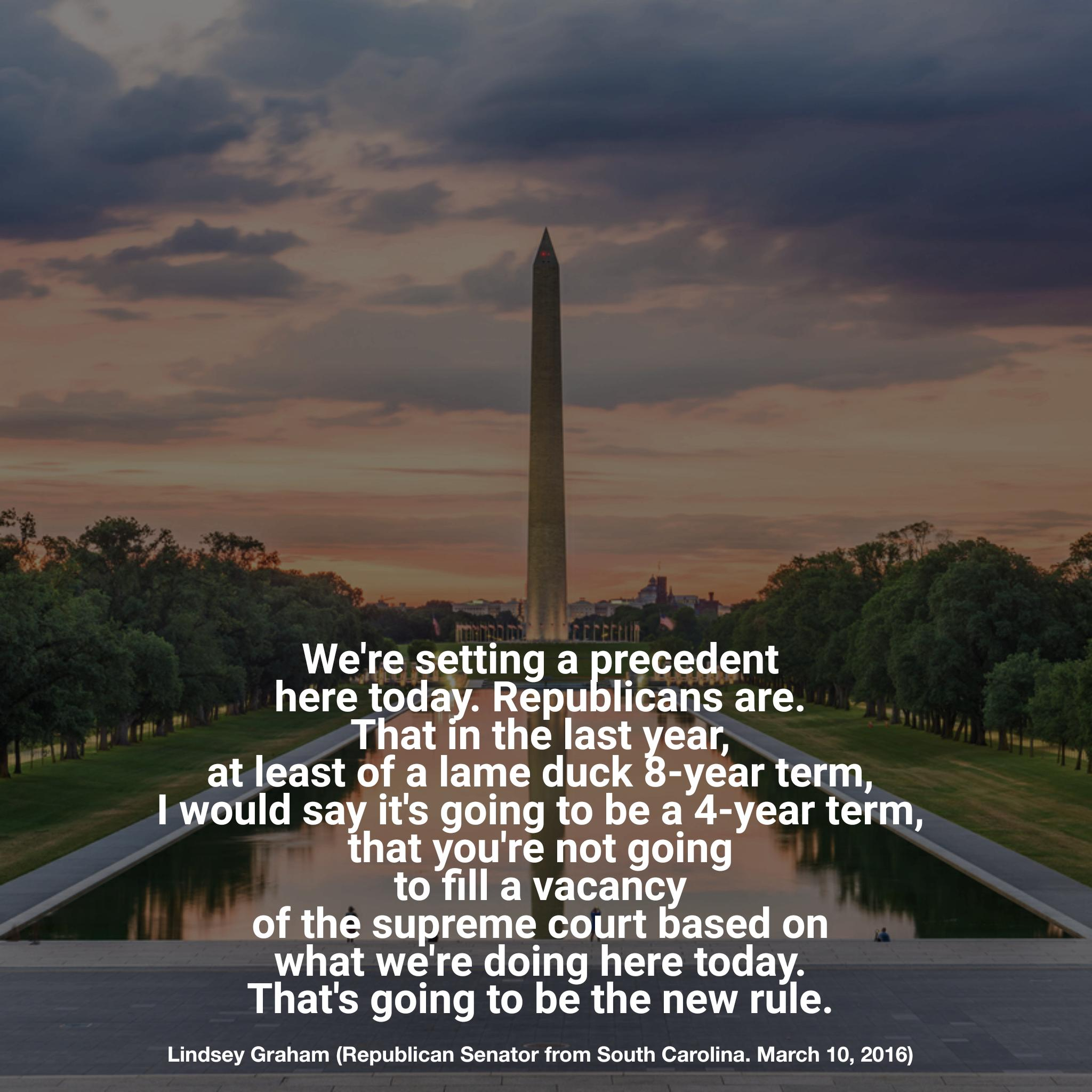 """We're setting a precedent here today…"" -Lindsey Graham [2048×2048]"