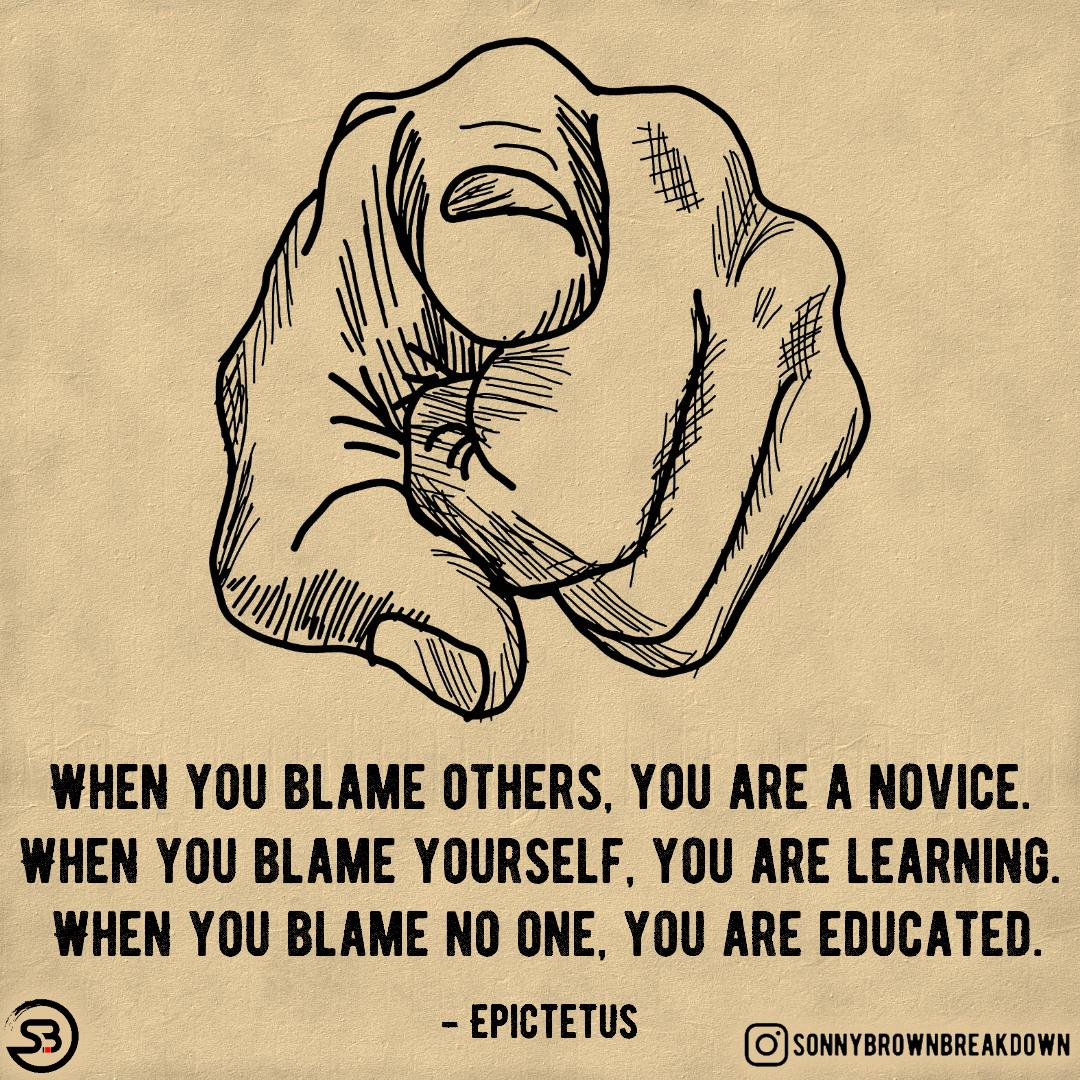 When you blame yourself, you are learning. [IMAGE]