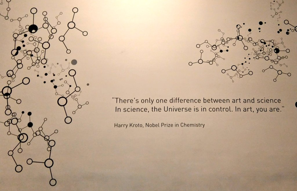 """There's only one difference between art and science. In science, the universe is in control. In art, you are."" – Harold Kroto [1024*659]"