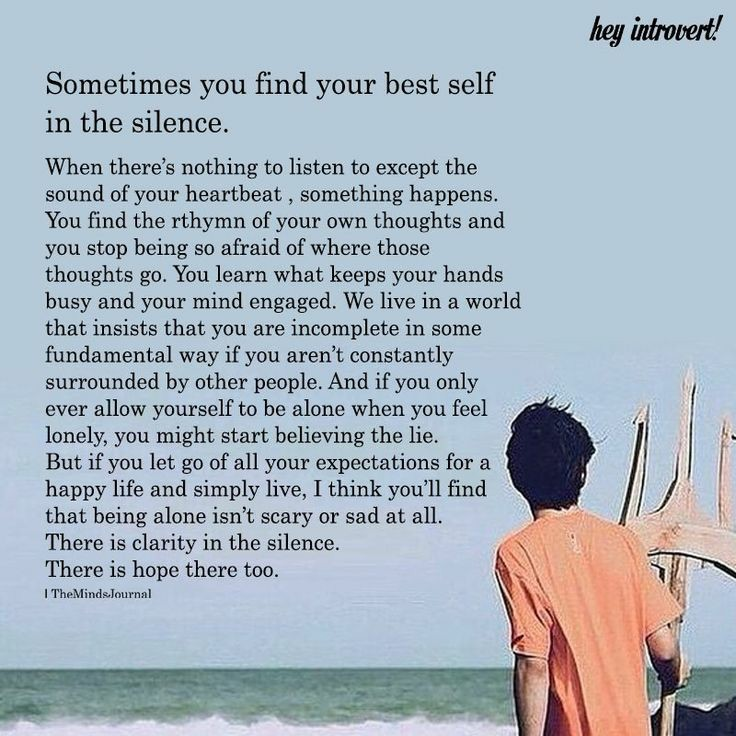 Sometimes you find your best self in the silence. (736×736)