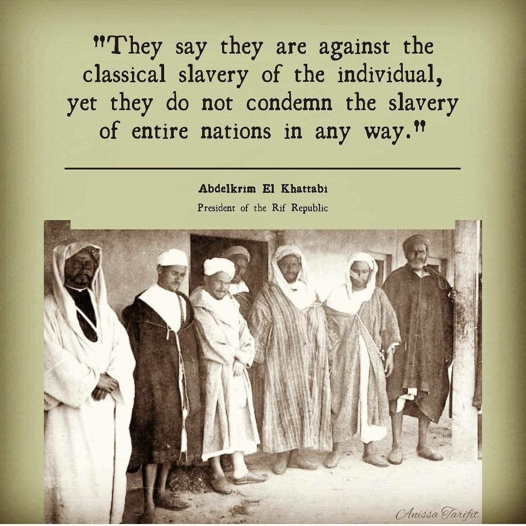 Powerful quote from Abdelkrim dated around 100 years ago