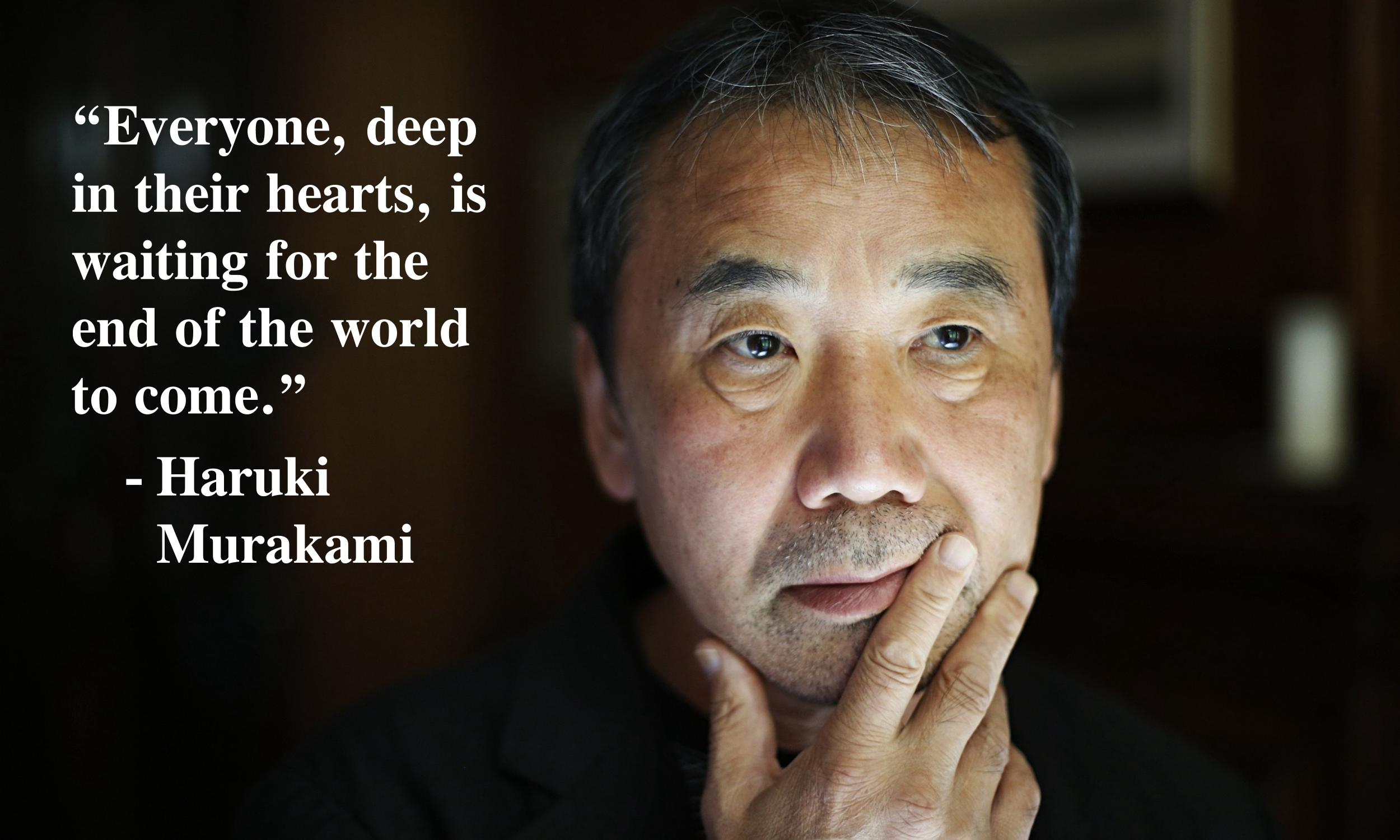 """Everyone, deep in their hearts…"" – Haruki Murakami [2560×1536]"