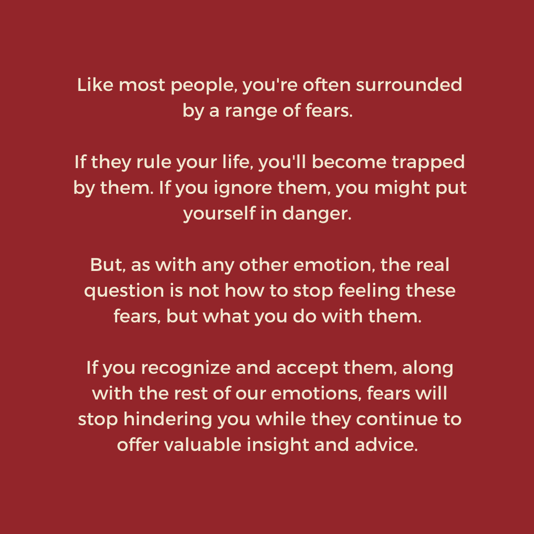[Image] Overcome your fears by accepting them