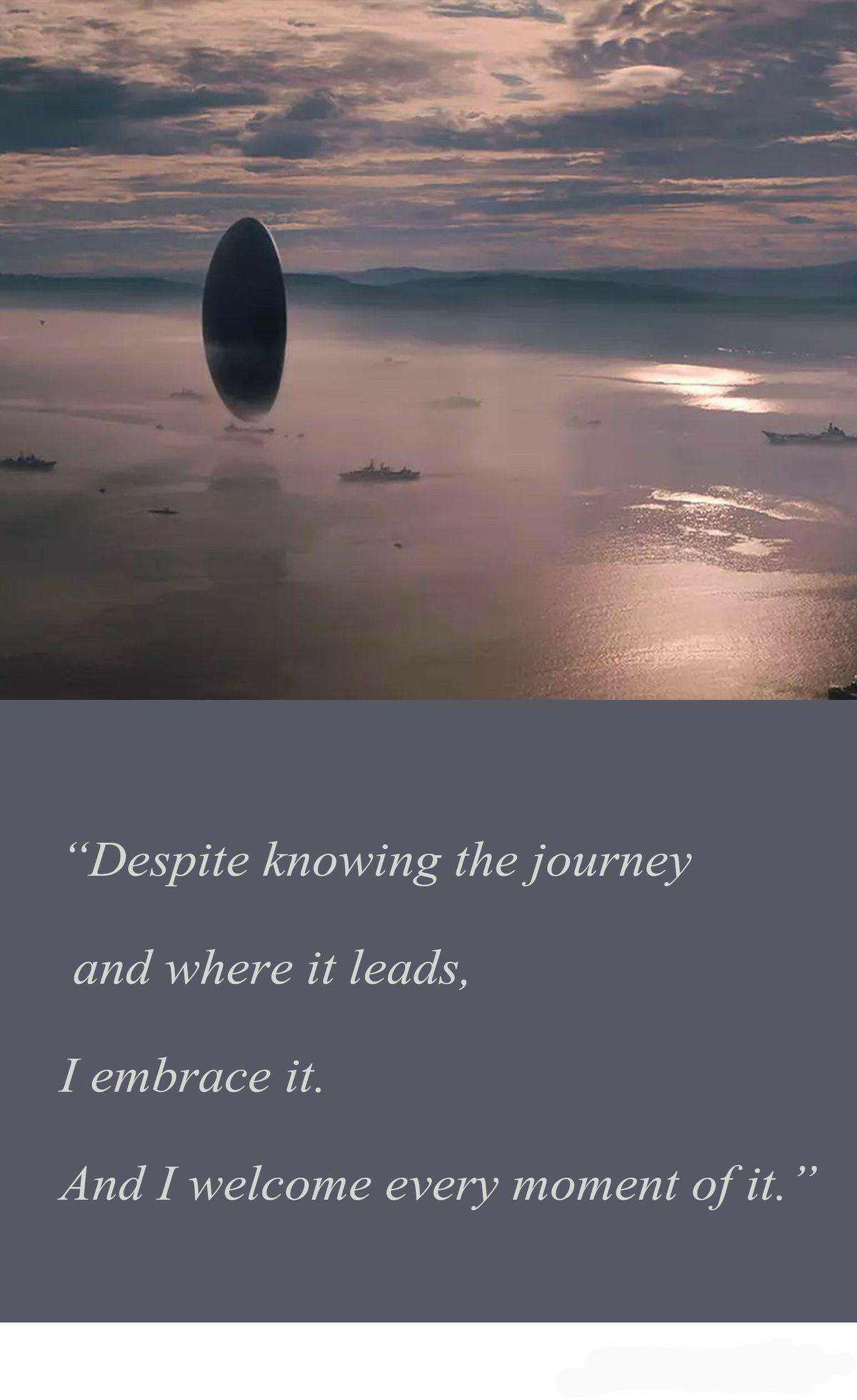 """Despite knowing the journey and where it leads,i embrace it and welcome every moment of it"" ~Ted Chiang [1200×1960]"