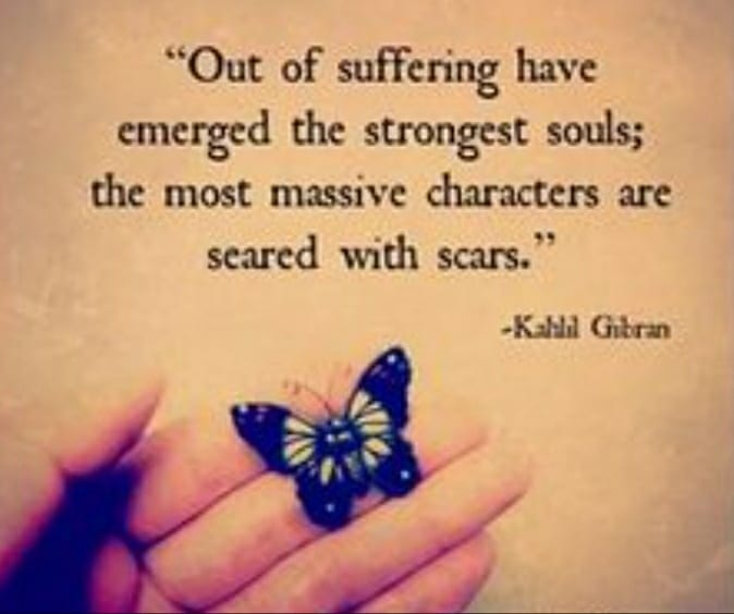 """The most massive characters are seared with scars"" -Kahhl Gibran [674×565]"