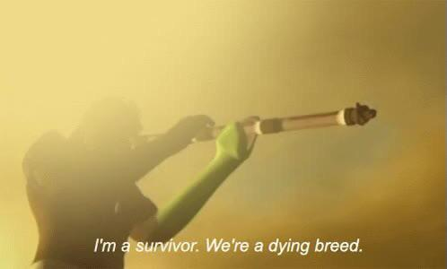 """I'm a survivor. We're a dying breed"" -Xavier Renegade Angel [498×300]."