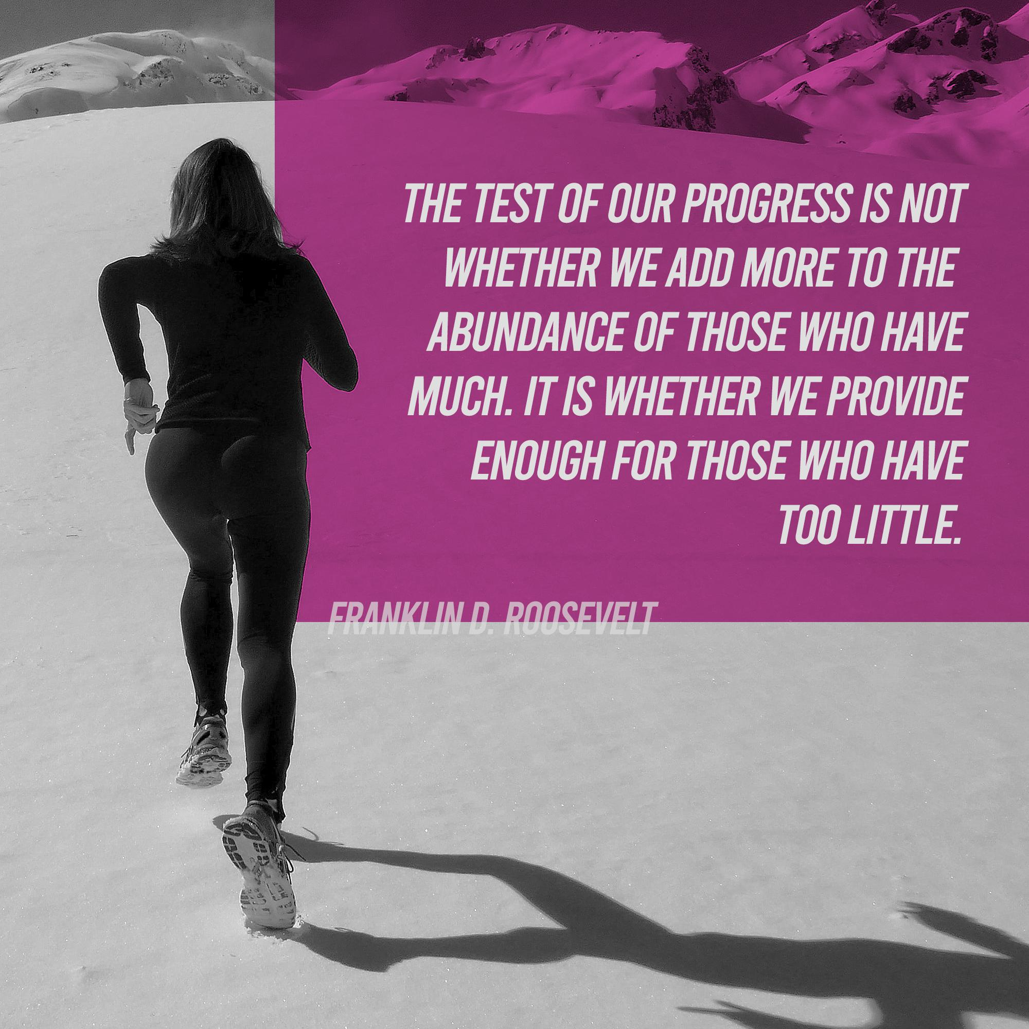 [Image] The Test Of Our Progress